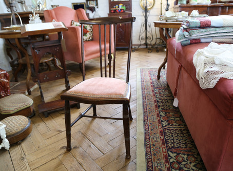 Small Mahogany Stick Back Chair - £28