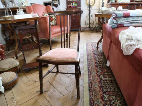 Small Mahogany Stick Back Chair - £28