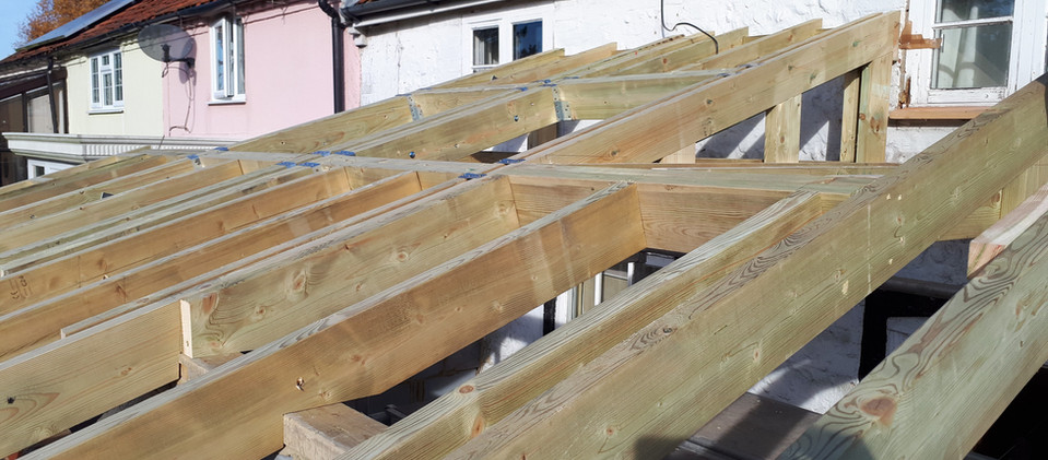 Roof of an extension