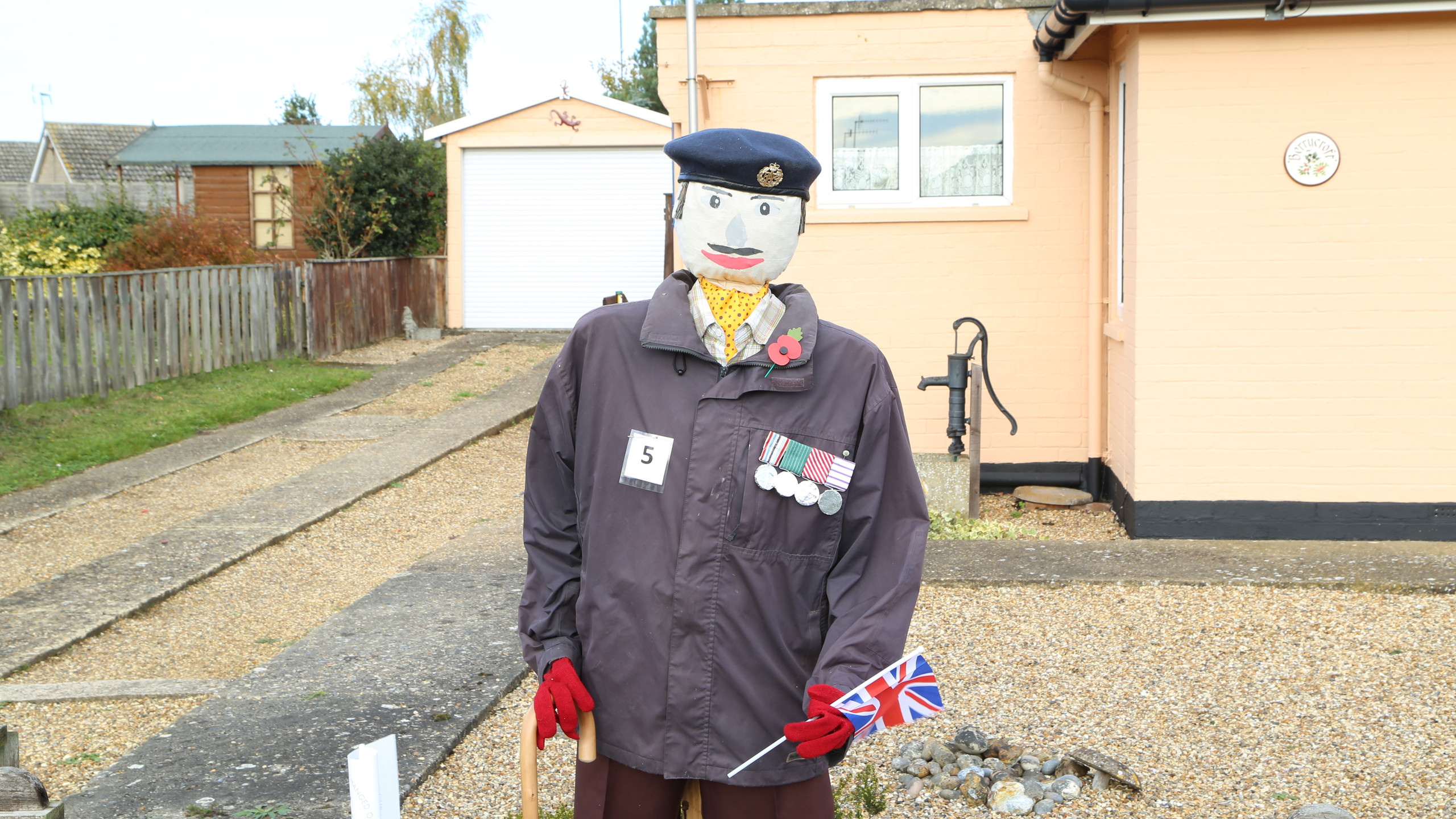 Scarecrow on duty