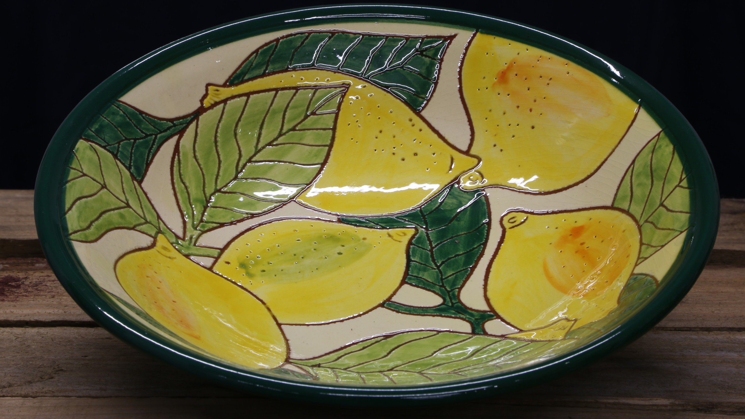 Plate with citrus