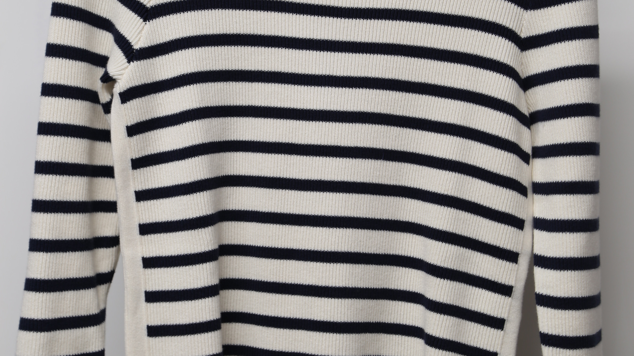Part Two -Breton navy striped jumper