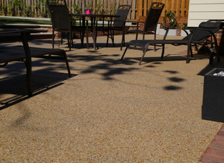 Lovely weather - enjoy it on a resin patio area