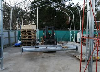 New Resin Stone storage yard