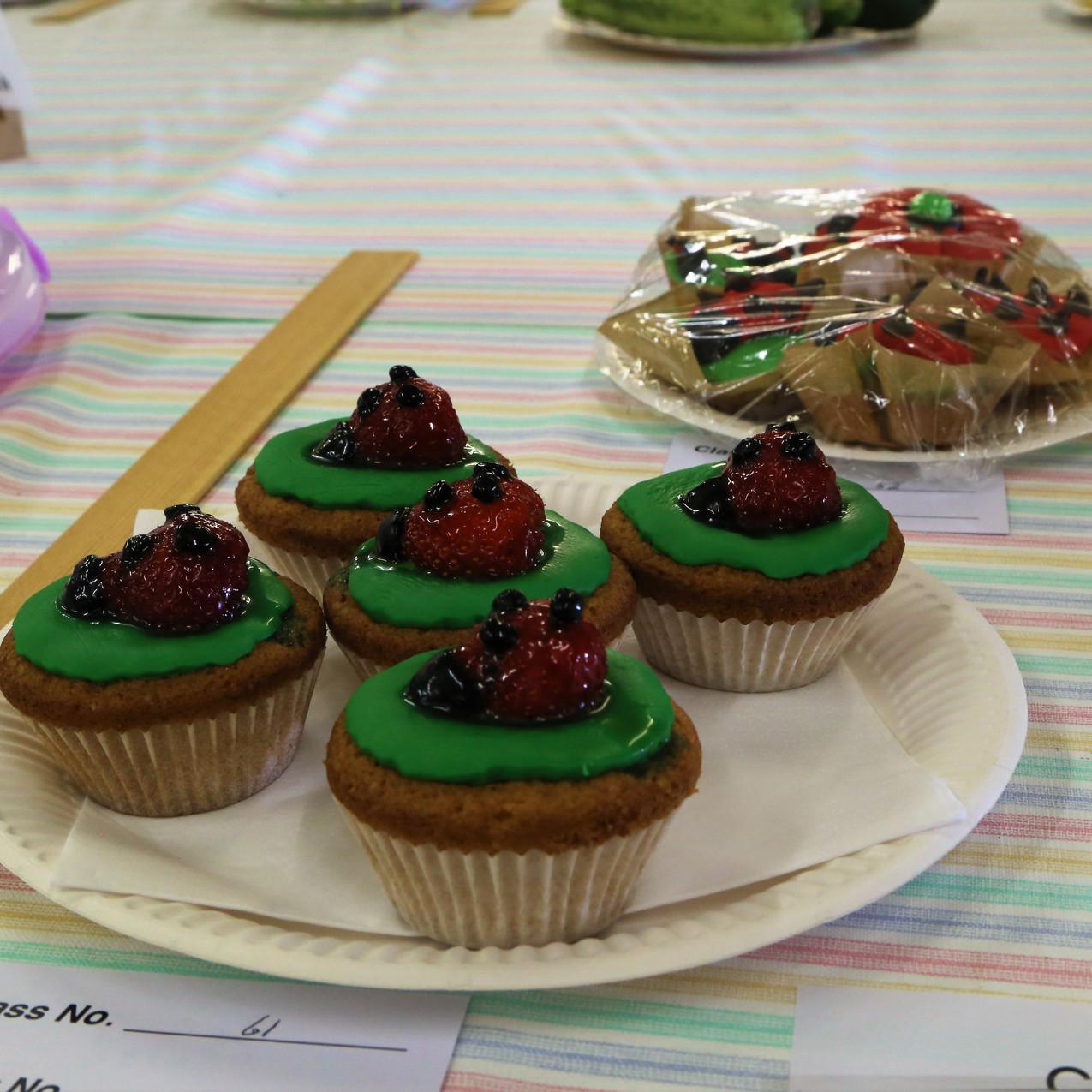 Lady bird theme cup cakes