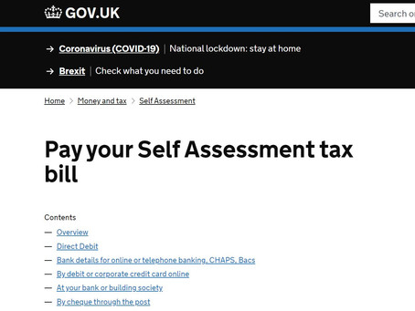 Self Employed? Key dates re your Self Assessment