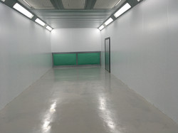 Spray booth cleaned for next job