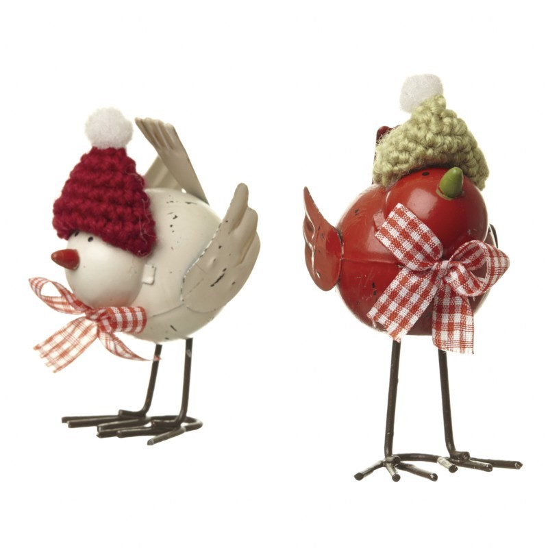 Christmas Robins & Knitted Hats £4