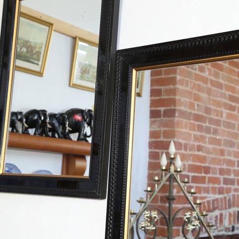 Black framed mirrors
