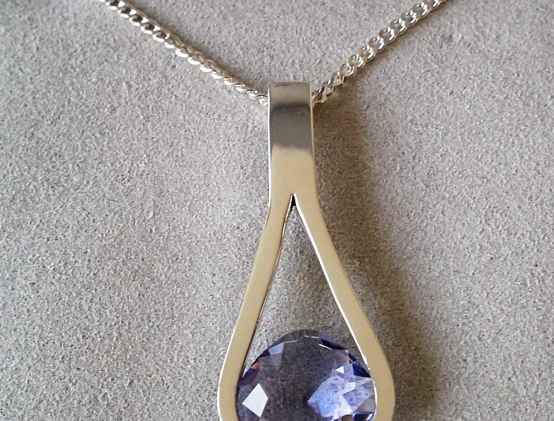 Purple Clasp Necklace