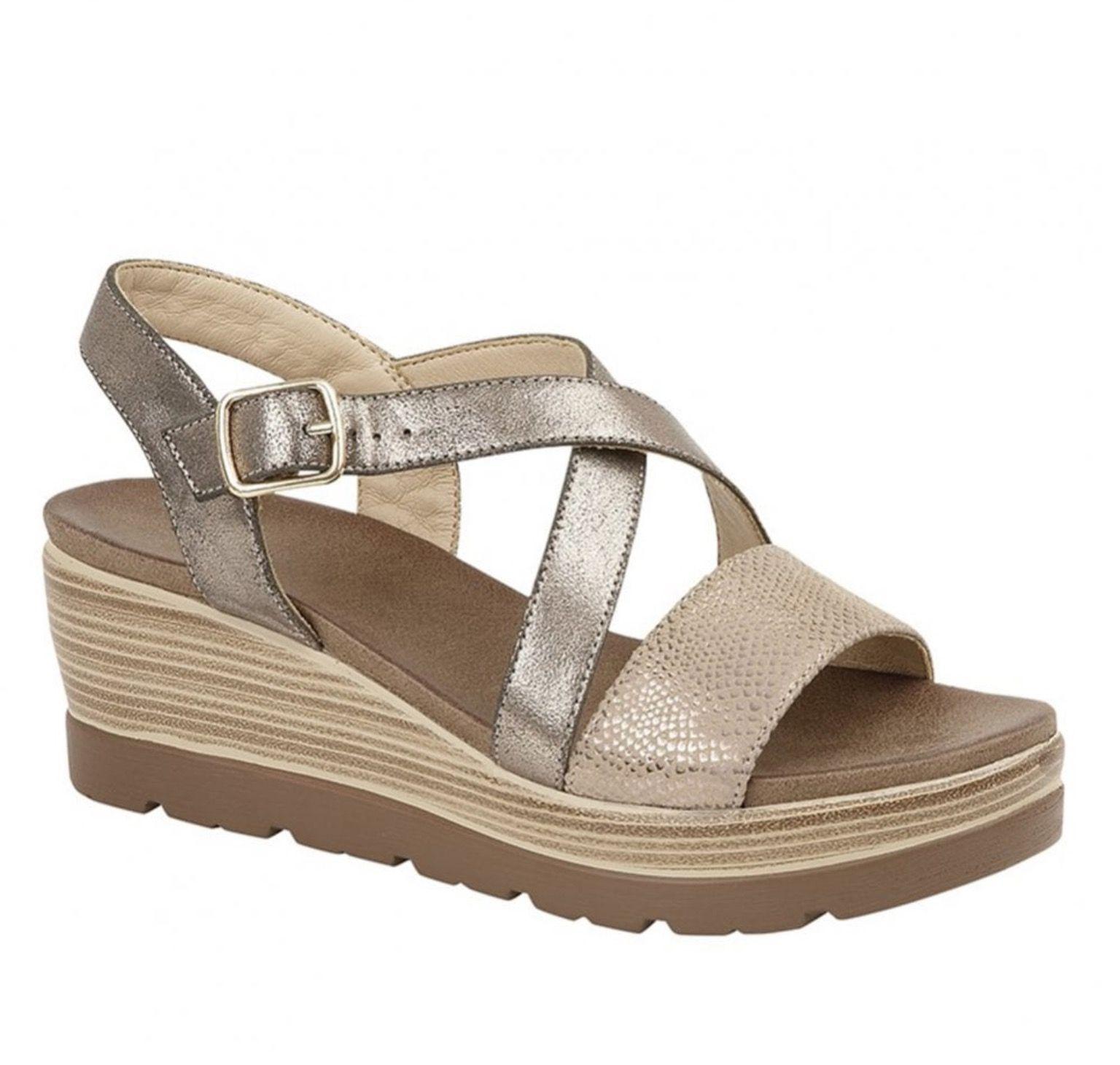 Cipriata Silver Wedge Sandal
