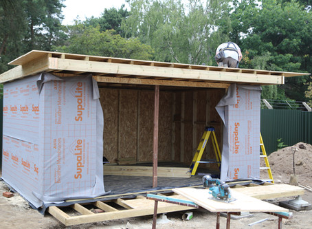 New insulated garden office now water tight