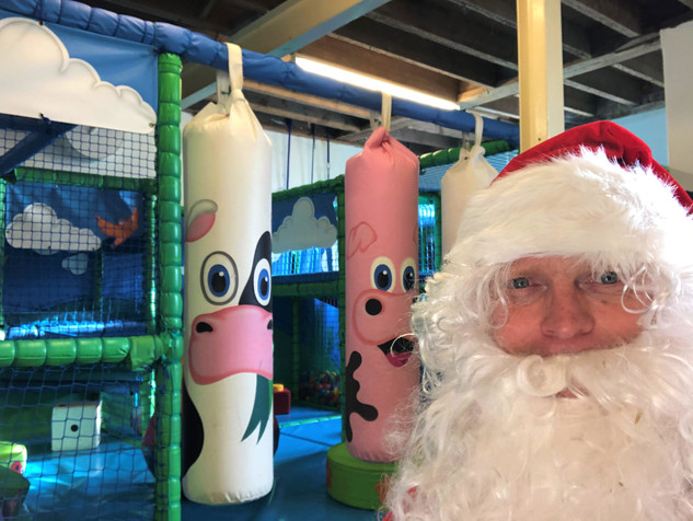 Santa in the playbarn