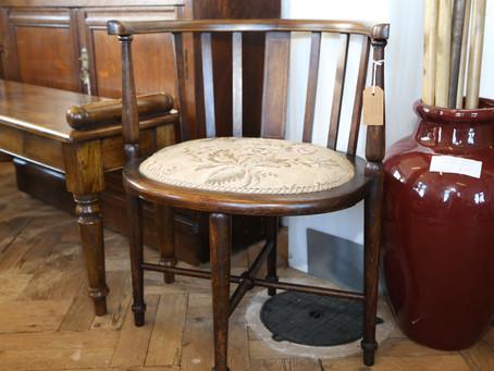 Edwardian Mahogany Corner Chair - SOLD