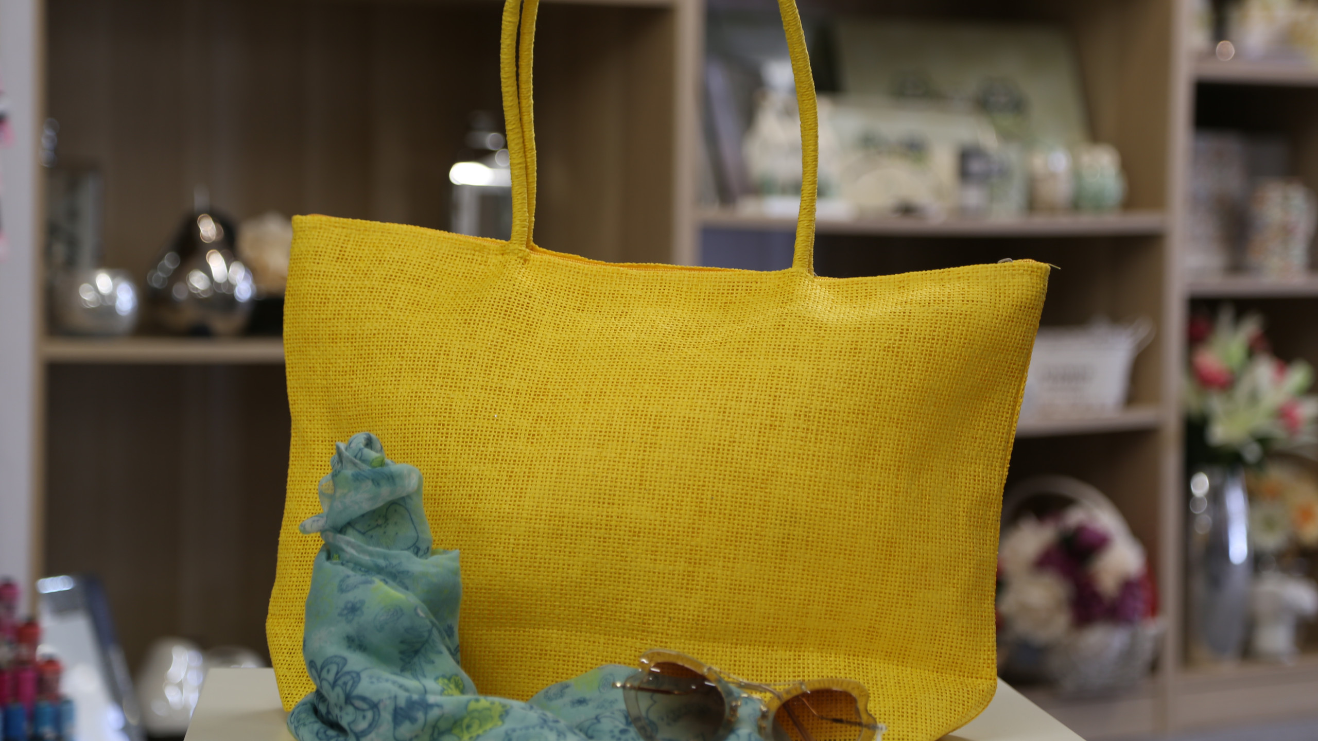 Yellow summer bag