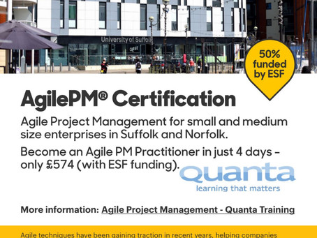 50% funded Project Management Training
