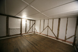 Upstairs of the old butchers shop