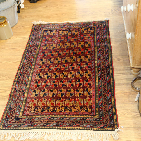 Colourful patterned rug