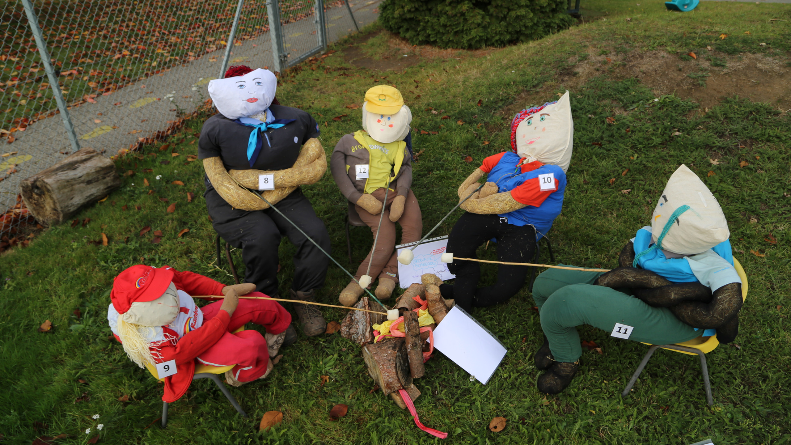 Camping scarecrows