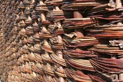 Weaved wicker walls