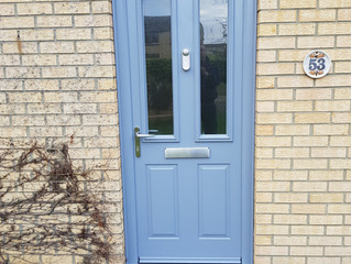 Coloured front doors - unique, stunning
