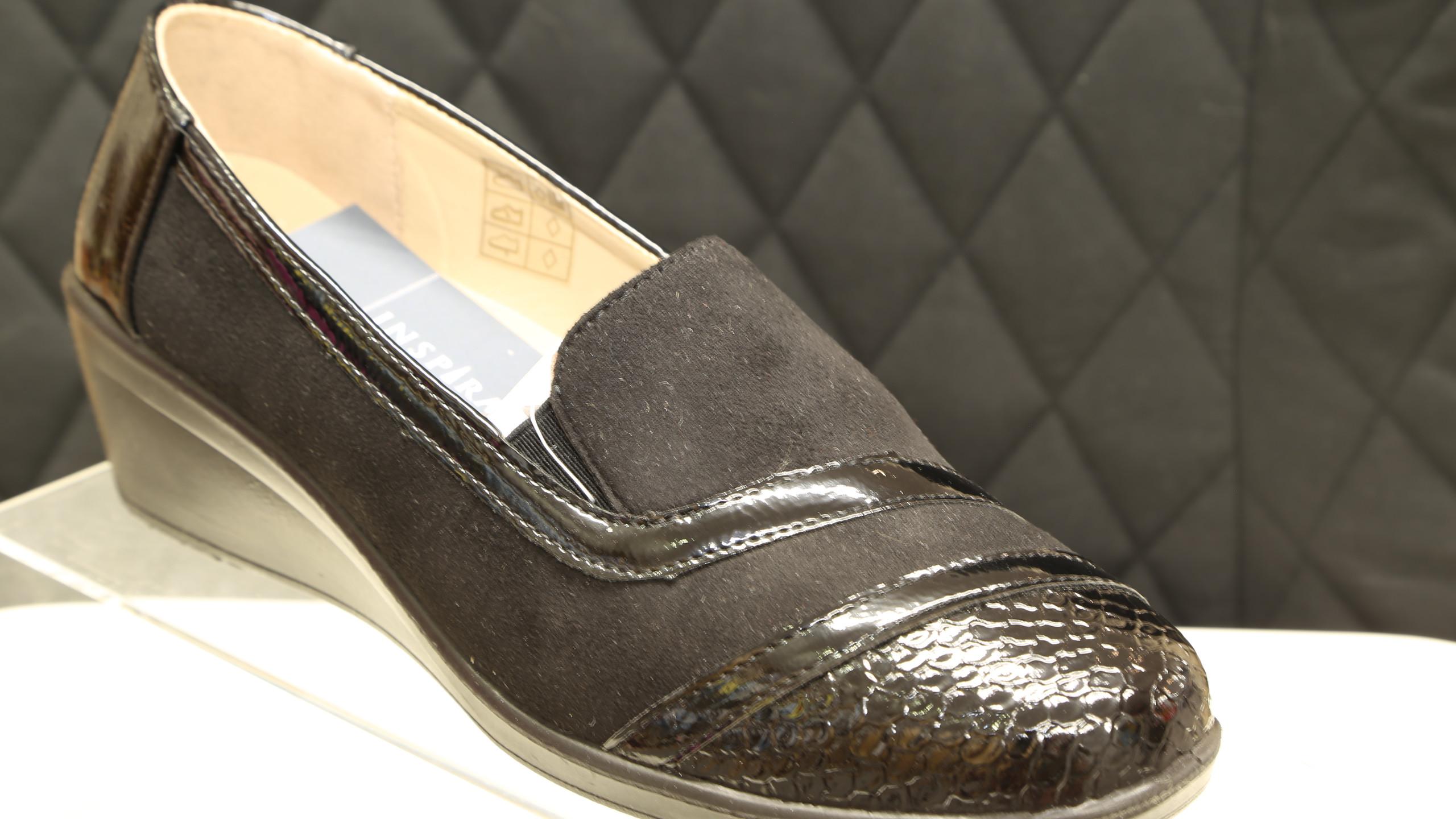 Black Patent Toe Cap Shoes