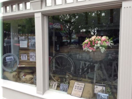 A new window display themed for the men's tour of Britain