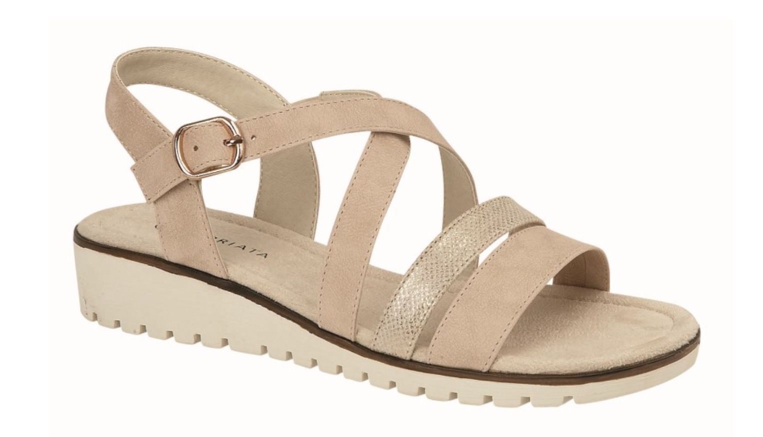 Cipriata Neutral Crossover Sandal