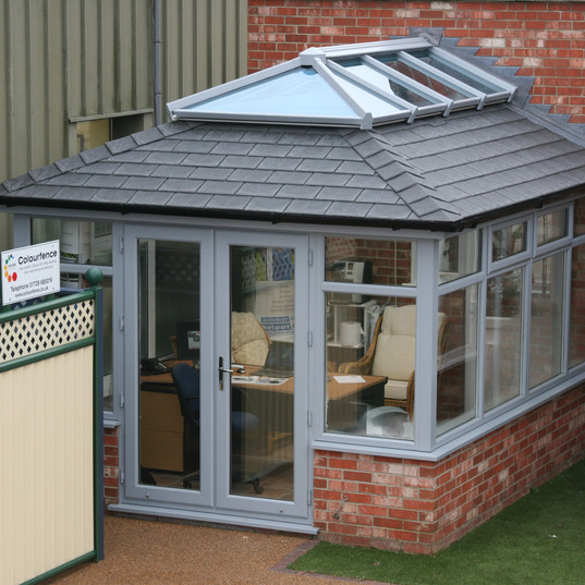 Insulated conservatoy roof with lantern