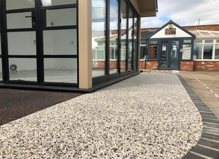 Resin pathway in new display area