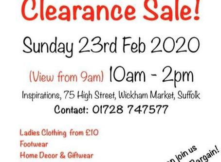 Sale Sunday 23rd February