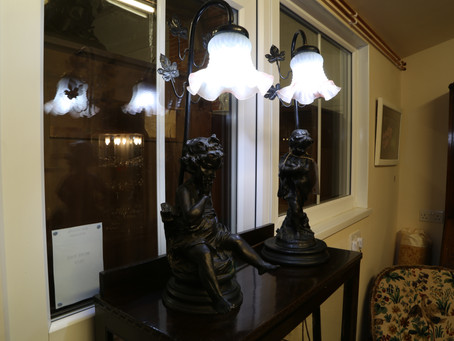 A pair of figure table lamps - £140