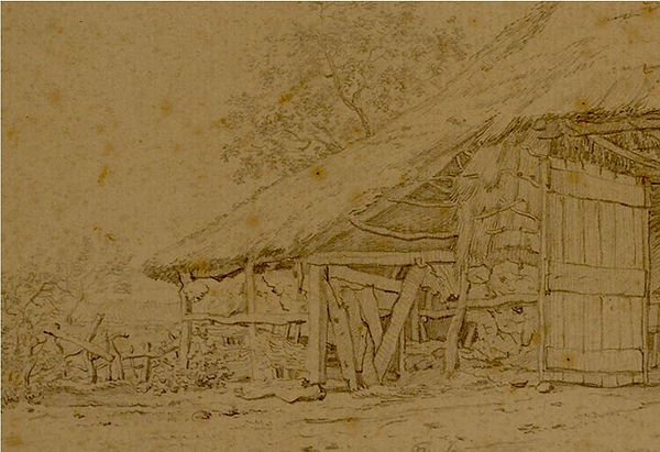 John Constable Drawing of a barn.JPG