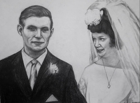 2018 Couple Portrait A4 Drawing