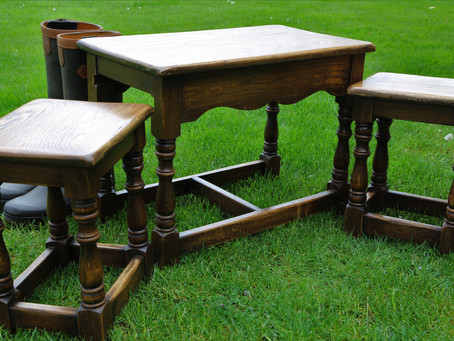 Oak Tables - nest of 3 tables - SOLD