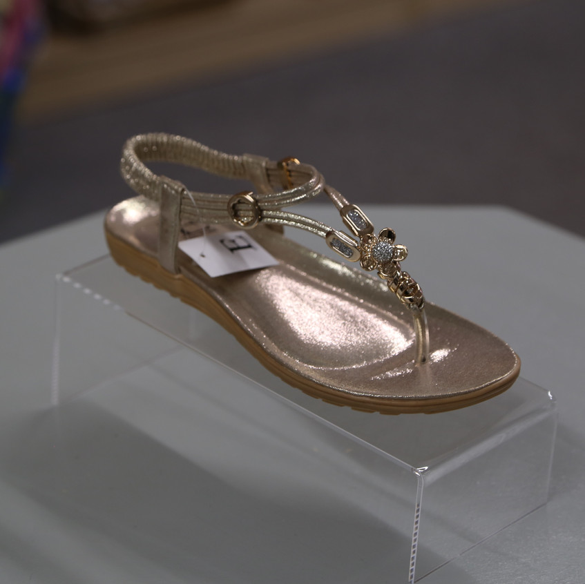 Gold sandals shoes by Emma £24