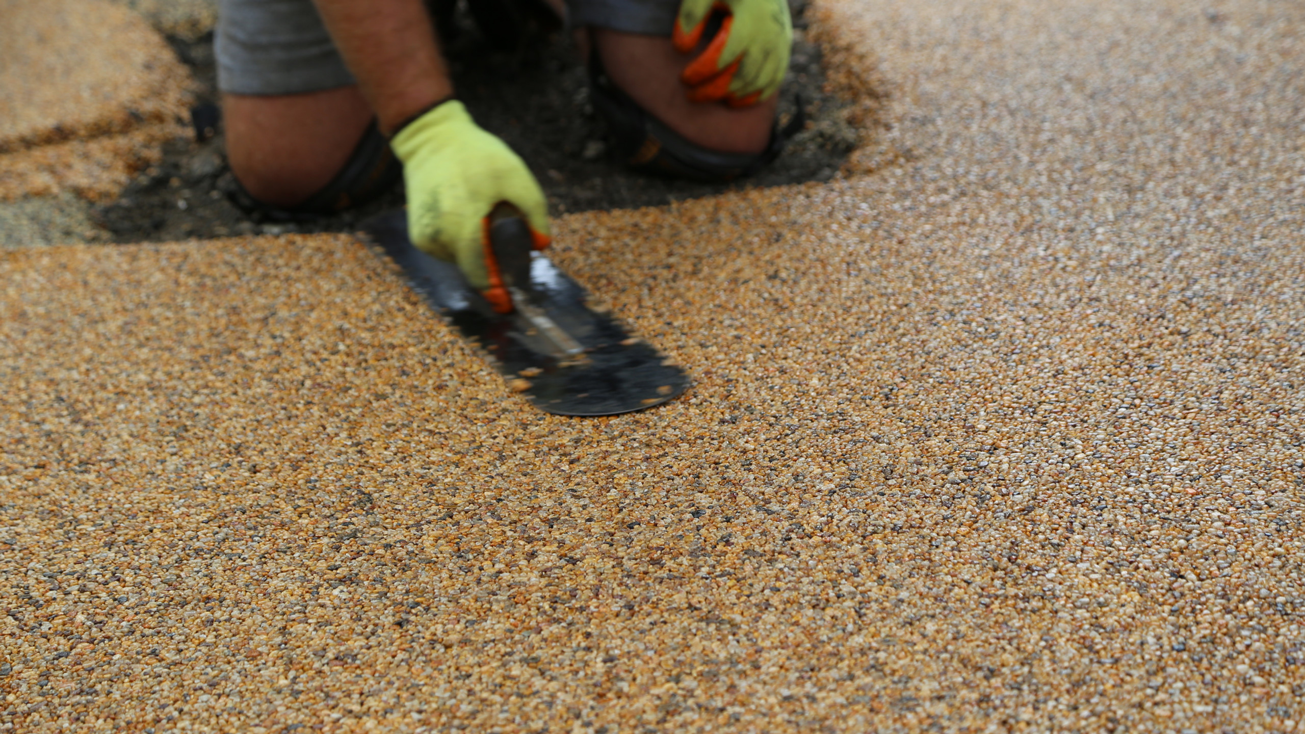 Creating a resin patio