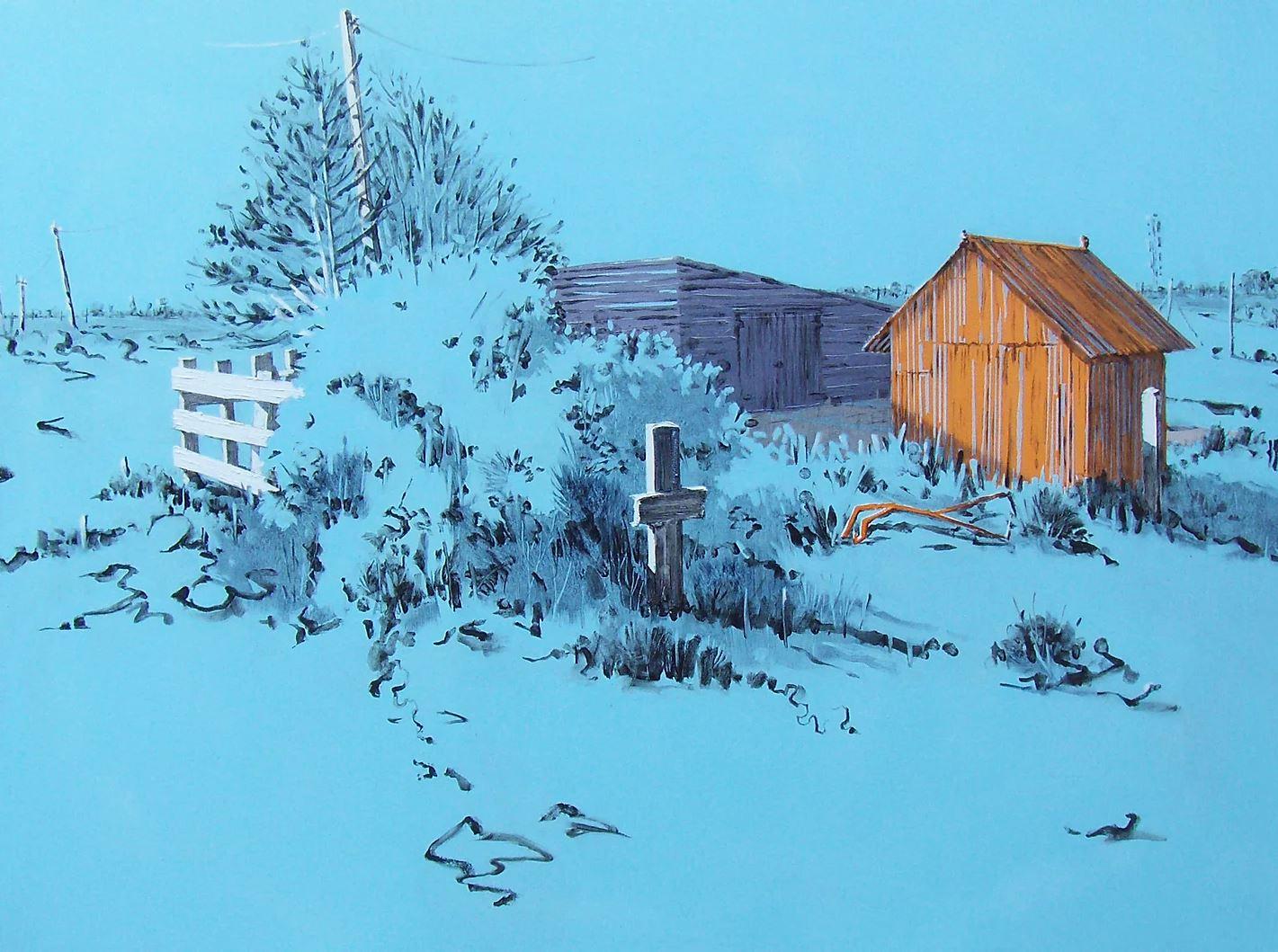 Blue sheds