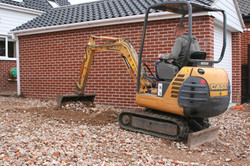 A digger gets the surface level