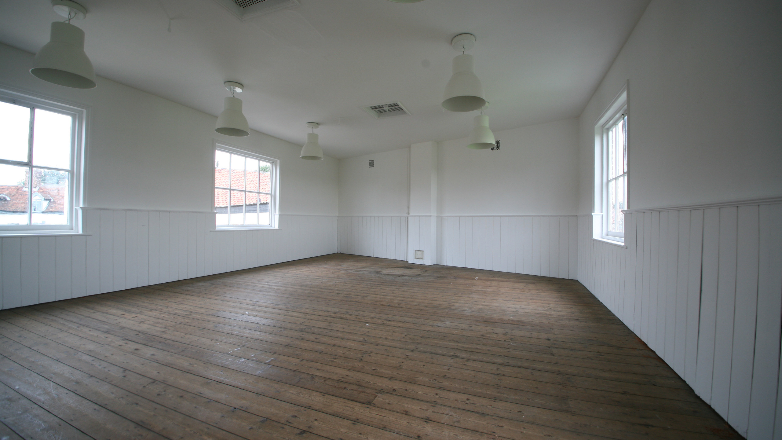 Large open space on the first floor