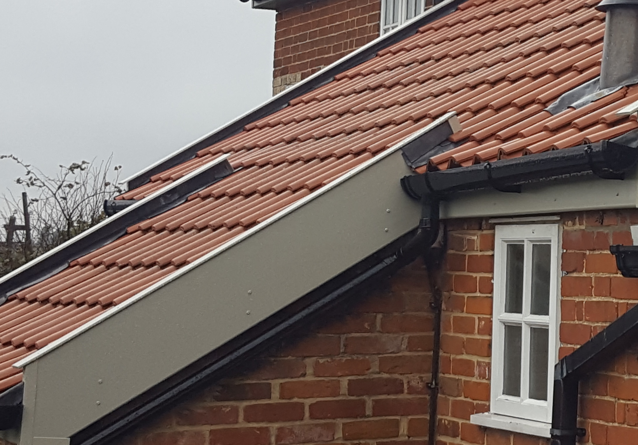 Coloured roofline and trim