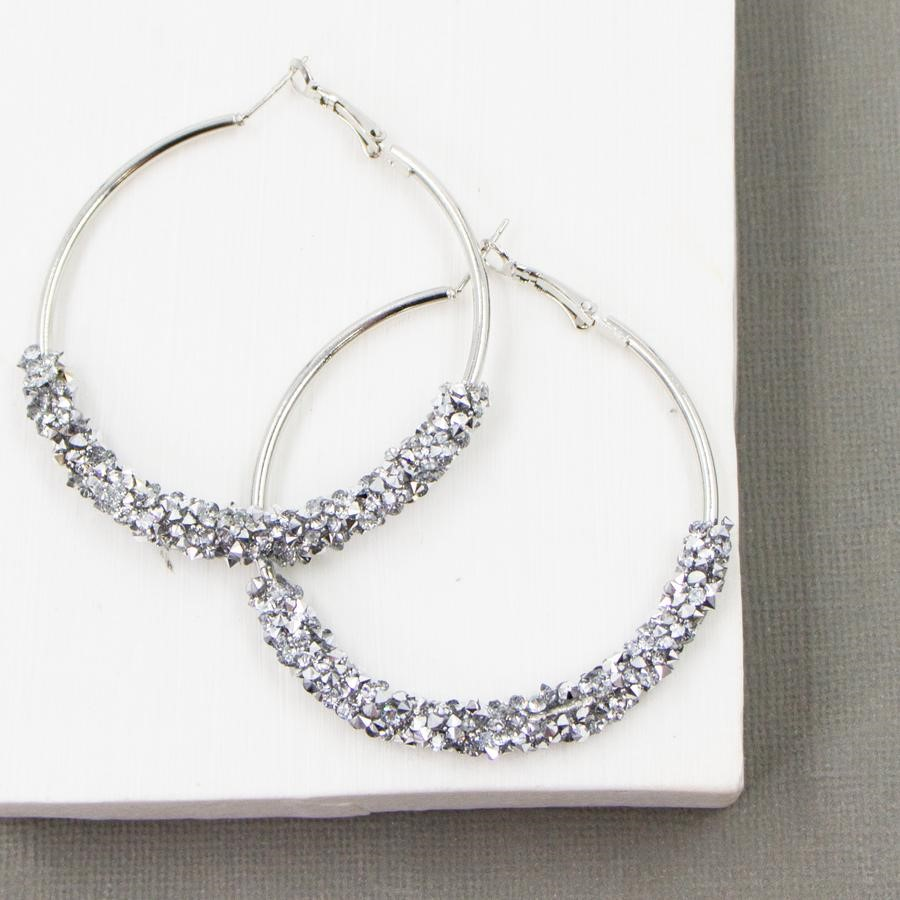 Crystal Hoop Earrings £18
