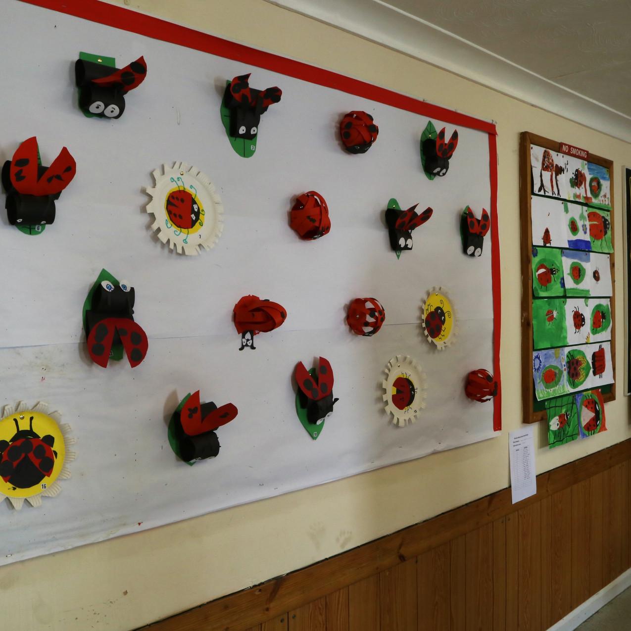School lady bird display