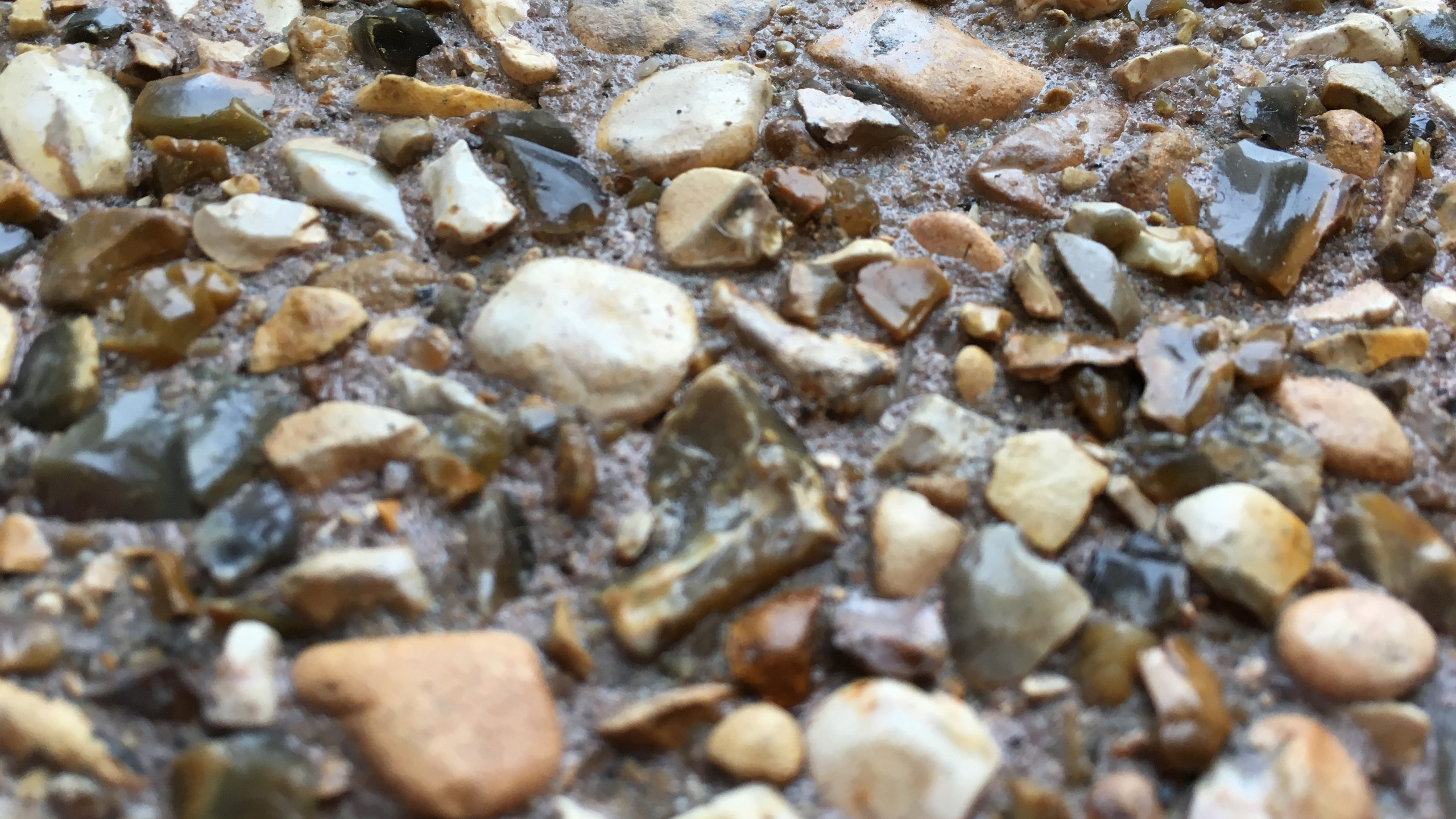 Exposed aggregate surface