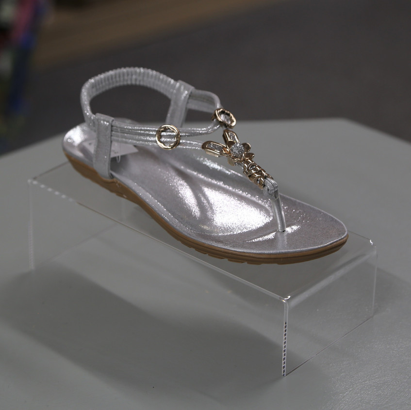 Silver sandals shoes by Emma £24