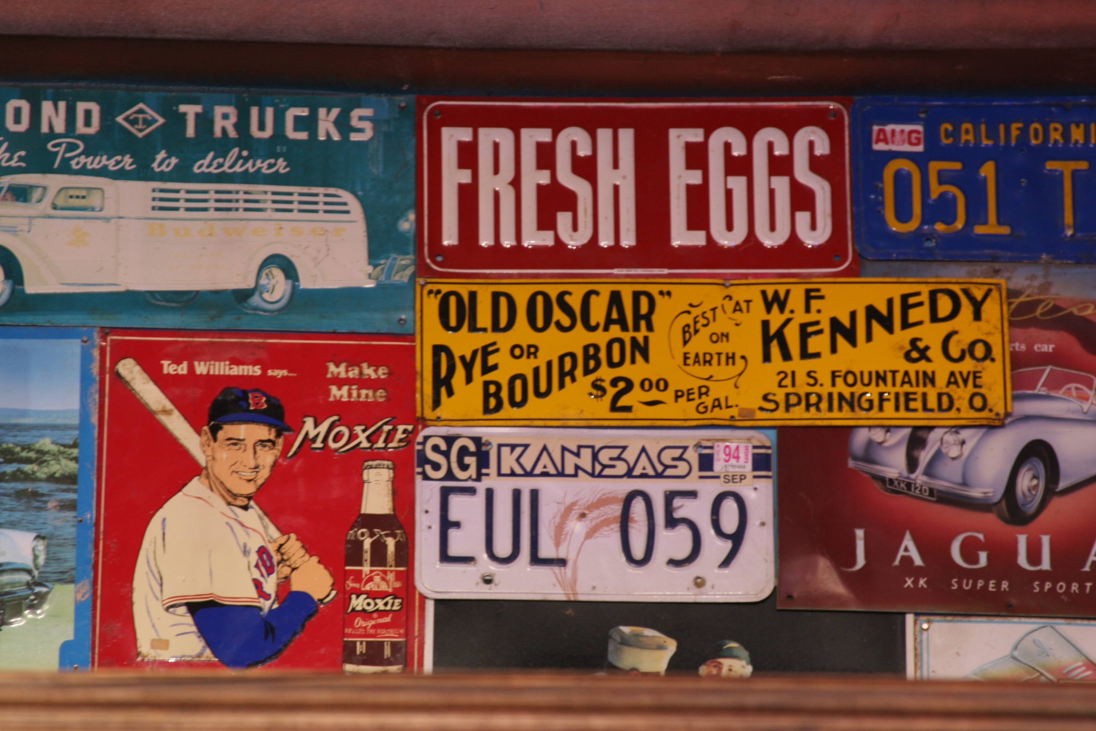 American retro signs