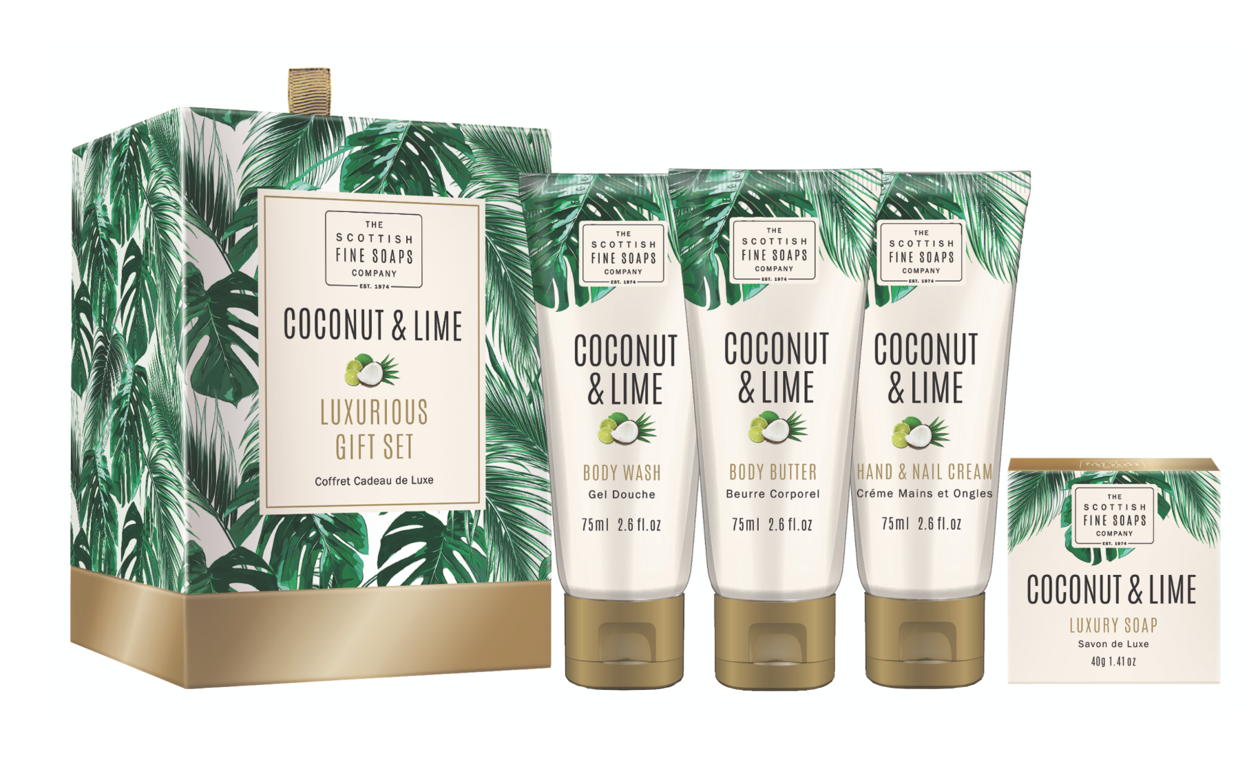 Coconut & lime gift set-£13