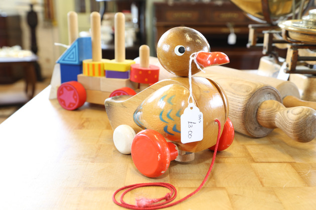 Wooden Duck Toy - £3