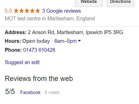 5 Star reviews all round
