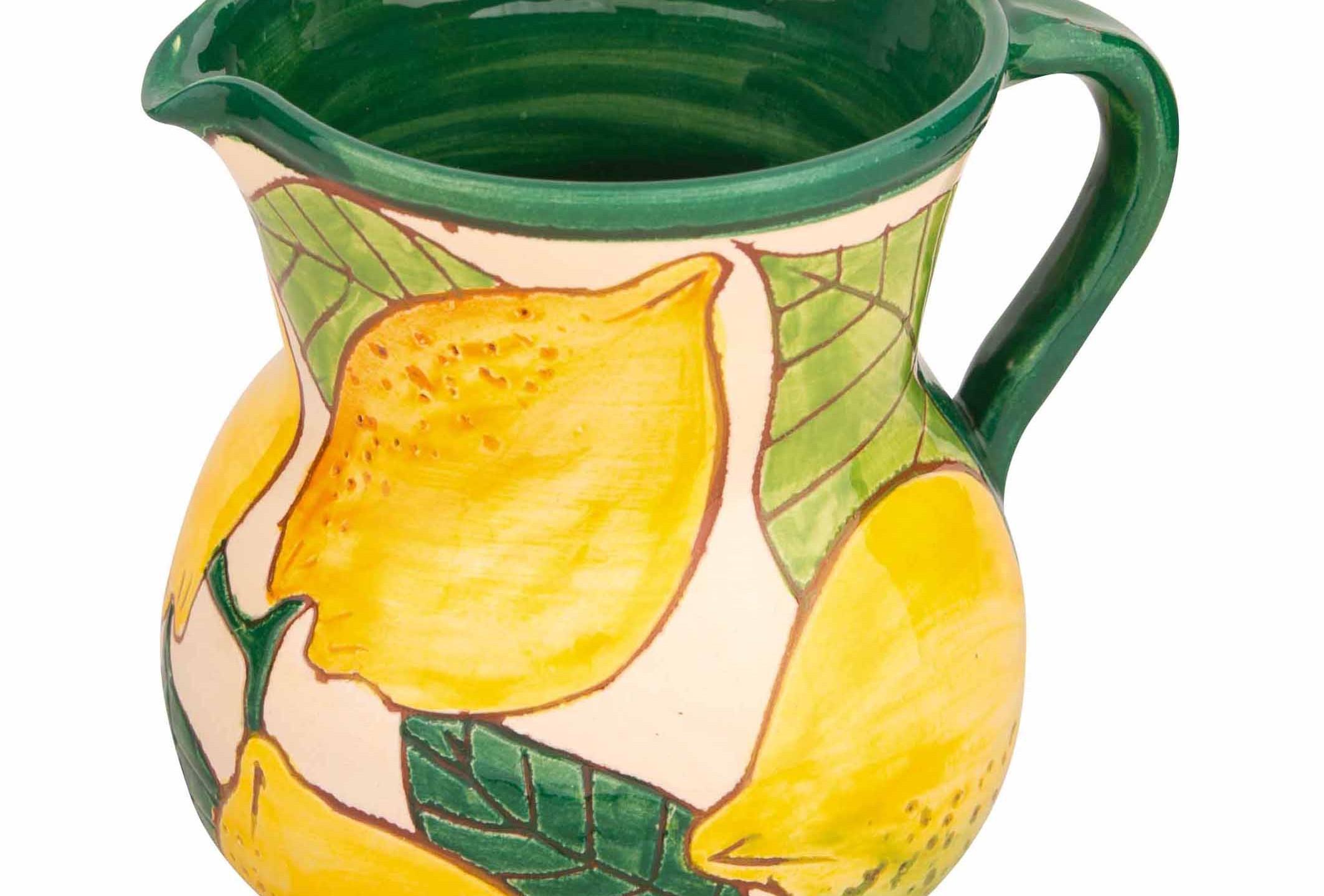 Spanish Ceramic Lemons Jug
